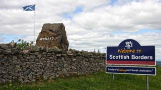 scotland welcome sign