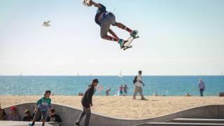 teens skae boarding