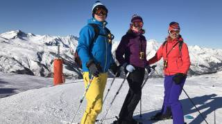 Skiers on mountain