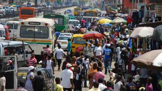 city of Ghana busy streets