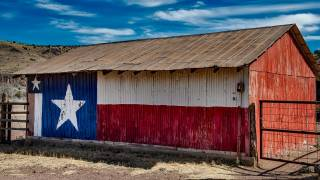 texas lone star on a barn