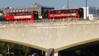 waterloo bridge with double decker buses