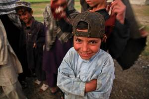 young afghani boy smiling