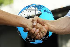 business partners shaknig hands