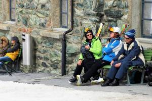 older skiers