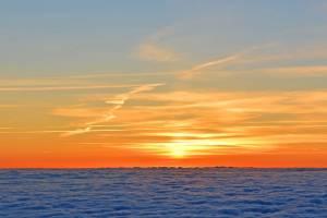 sun rise over the ocean