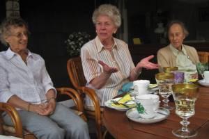 grannies having a tea party