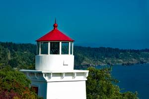 Trinidad memorial light house and forests beyond