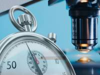 stop watch and a microscope