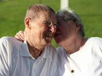 grandparents having fun outdoors