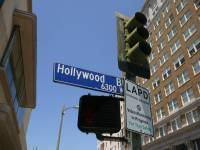 hollywood street sign in los angeles
