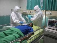 patient being attended to in the hospital