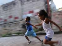 kids running and laughing healthy